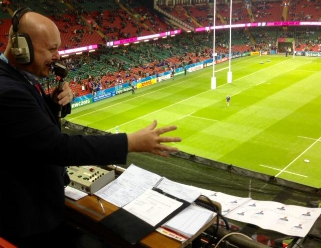 Commentating at the 2015 Rugby World Cup