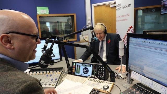 Interviewing British Prime Minister Boris Johnson live on my BBC radio programme.