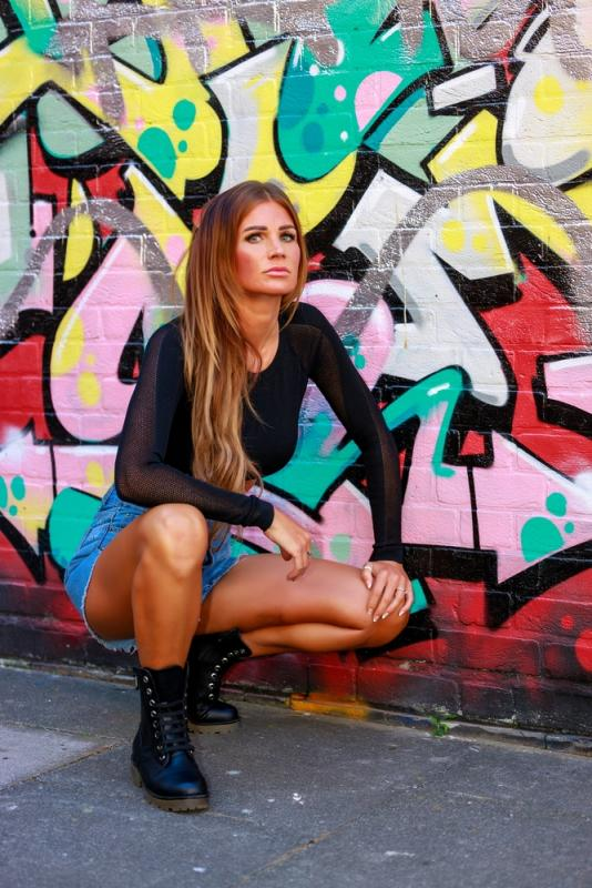 Graffiti photoshoot