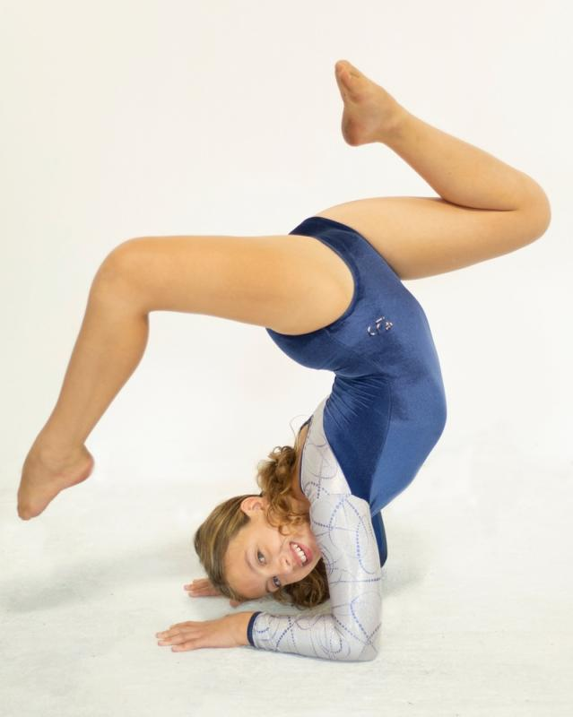 Chloë doing gymnastics - she's loves tumbling