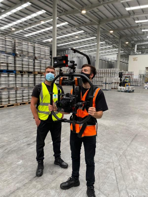 Operating the FS7II on Movi Pro at Beavertown Brewery 2020