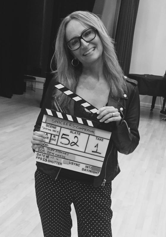 On Set with Clapperboard
