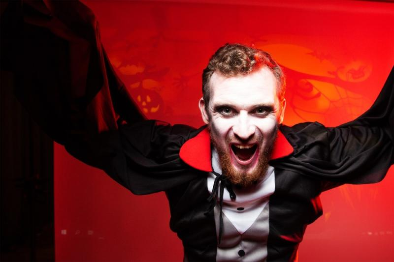 Vampire in stage perfomance by Russian Classics Theatre