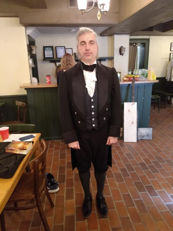 Pat Bianco 2019 as 1830's pharmacist in Search Out the Land