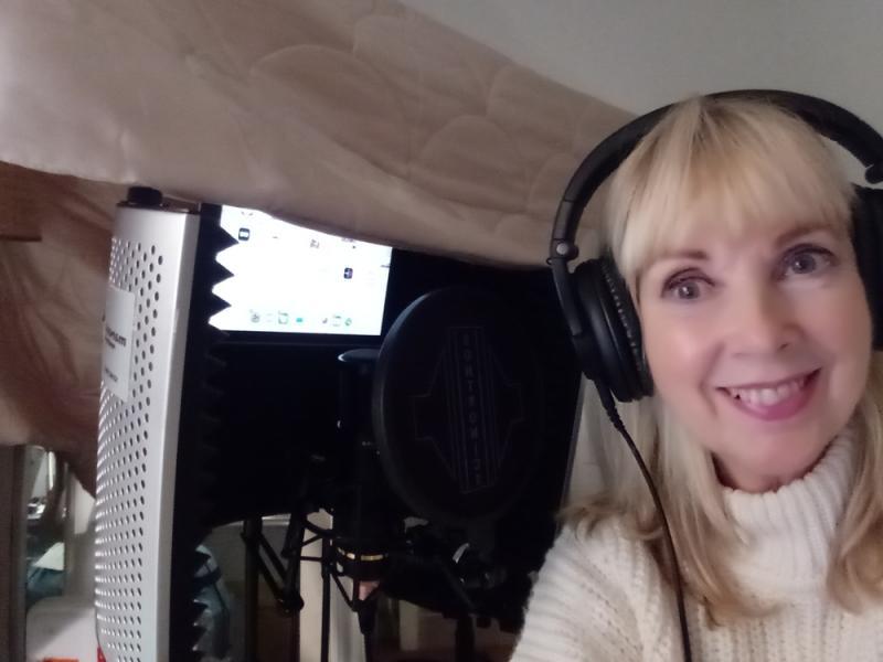 Carla de Wansey in the studio