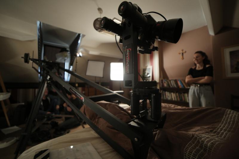 Crane work on short film A Boat