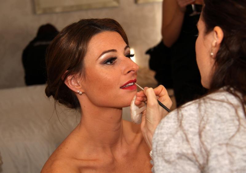 Wedding day make-up