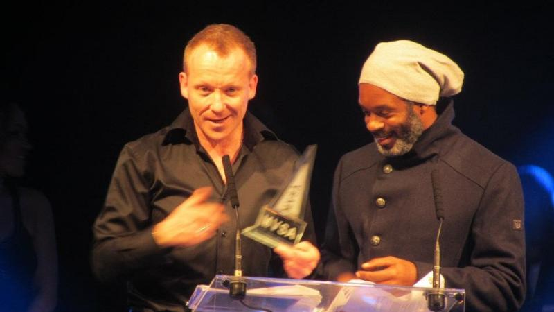 """The Film """"Throw Of A Dice"""" Wins the Best Film at the MVSA Awards. Simon Britton & Wil Johnson."""