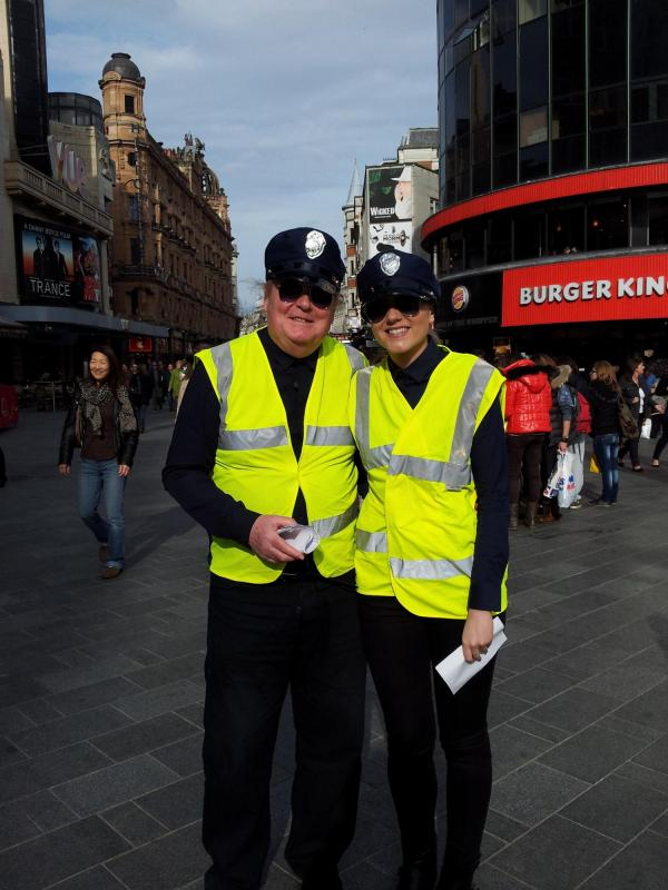 The Fashion Police on patrol in Leicester Square