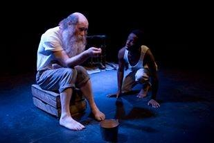 Old Man and the Sea, Magpie Blue Productions, Arcola Theatre, Paul Thomas Lighting Designer