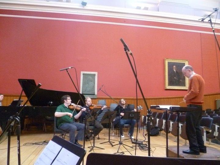 Conducting Recording Session at Edinburgh University