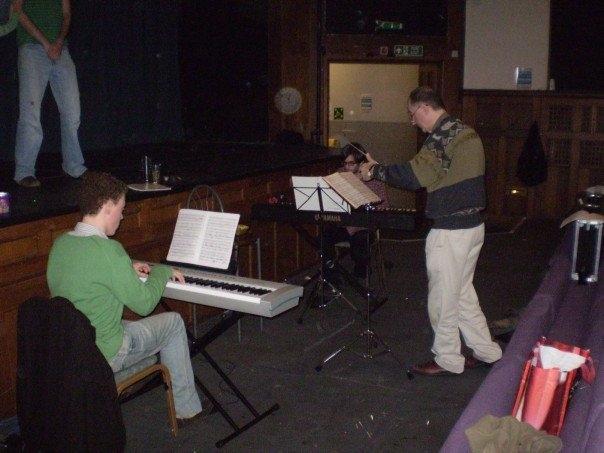 Conducting Rehearsal for Salad Days, Edinburgh University Savoy Opera Group