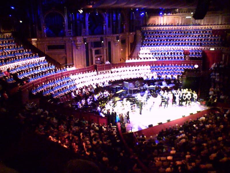 Caroline O'Connor at performance of my arrangement at Royal Albert Hall