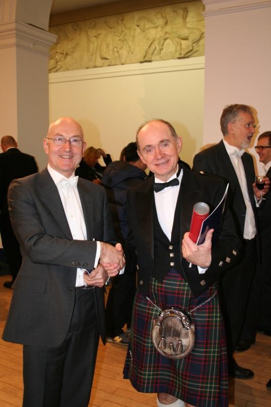 with Professor Peter Nelson at my PhD graduation, Edinburgh University