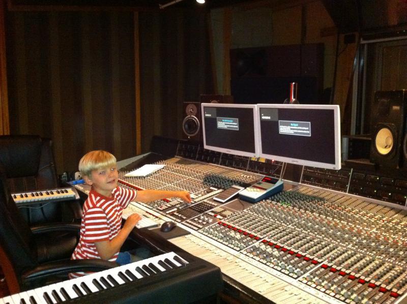 Max at a recording studio