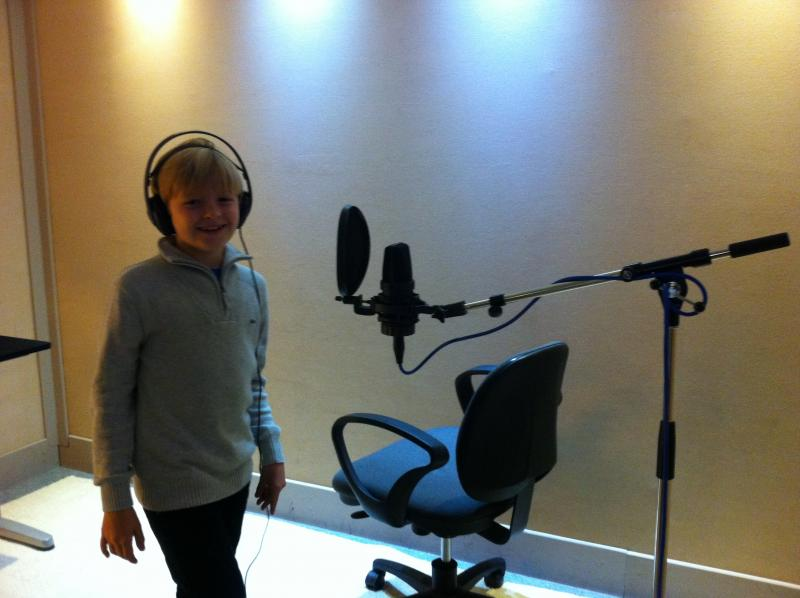Max doing voice over
