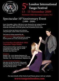 Advert for the London Tango Festival