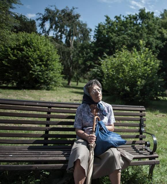 Old Lady on Park Bench
