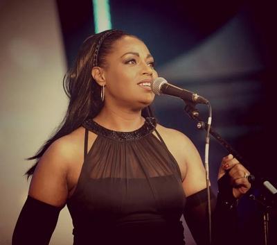 Artist: Charmain - Singing at Canary Wharf Jazz Festival 2014