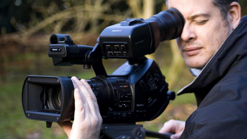 David with his Sony EX3