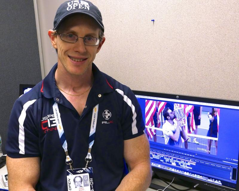 working at the 2014 US Tennis Open