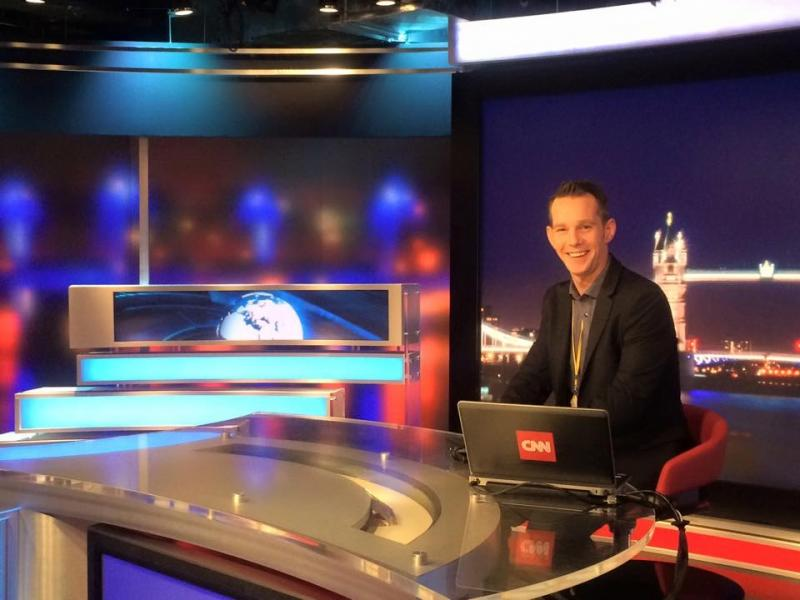 ...as the News Anchor
