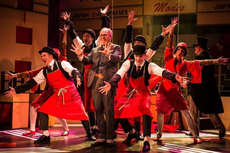 As 'Ko-Ko' in 'The Mikado', Charing Cross Theatre