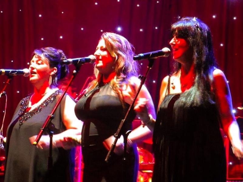 Backing Joe Longthorne at the London Palladium 31/05/15 (me in middle)