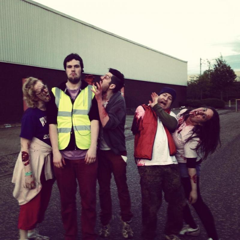 Working as a stage manager with my zombie team