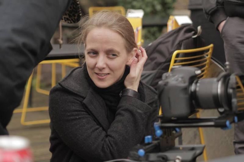 Patricia on set, directing Skip School