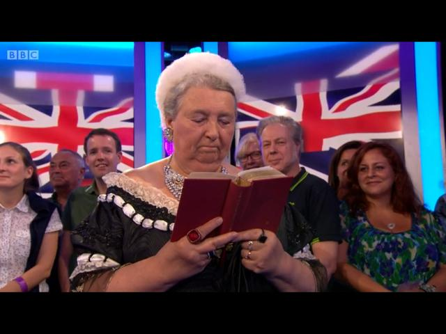 Queen Victoria on the One Show September 2015