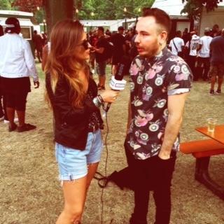 Wireless Festival interviewing Duke Dumont