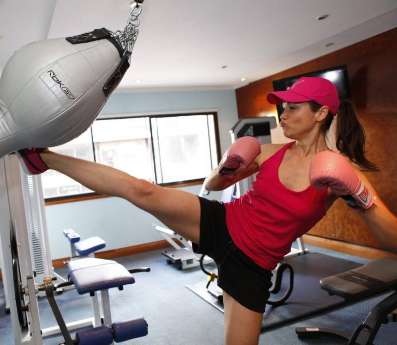 Natalie Kick-boxing shot
