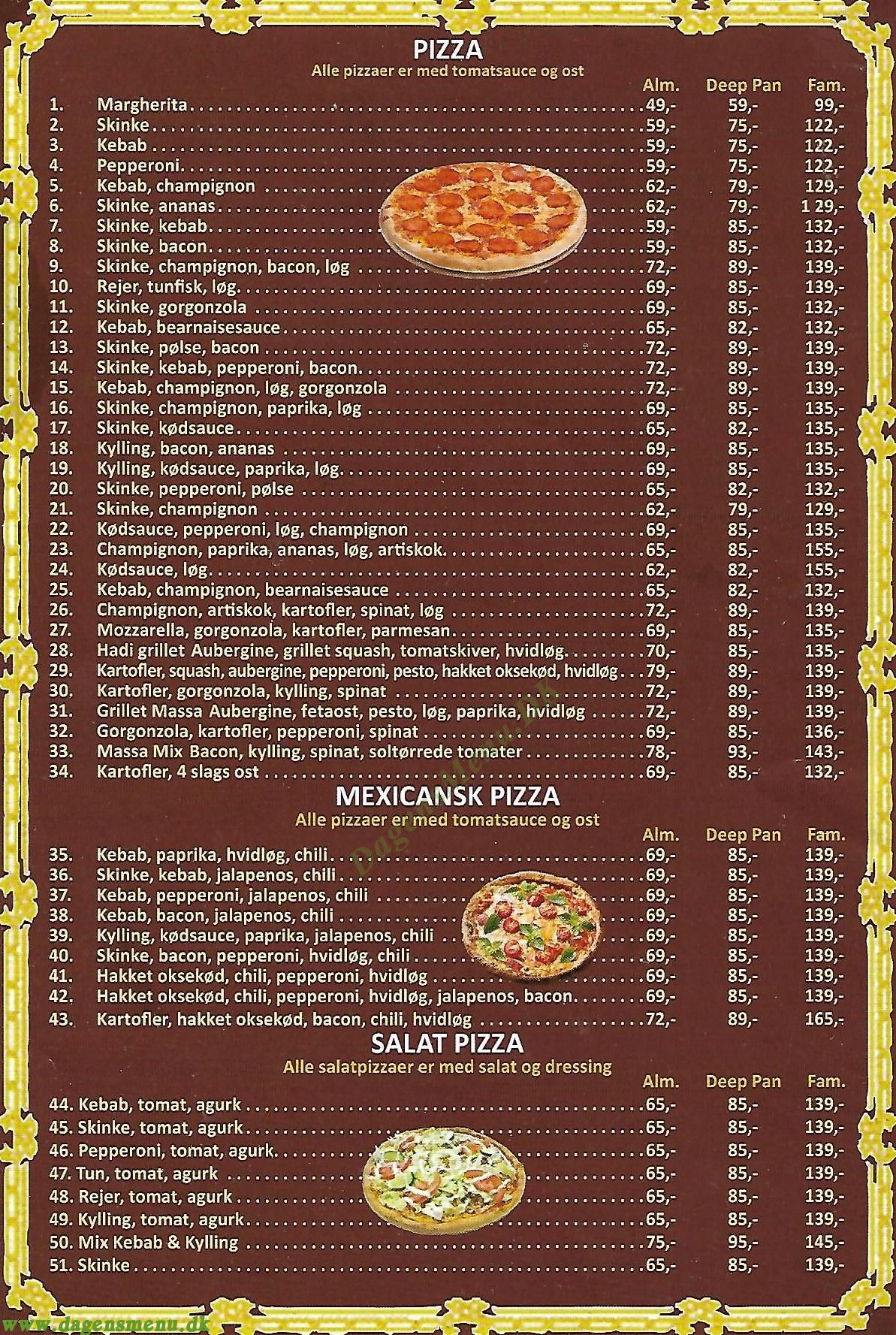 MASSA PIZZA & GRILL - Menukort