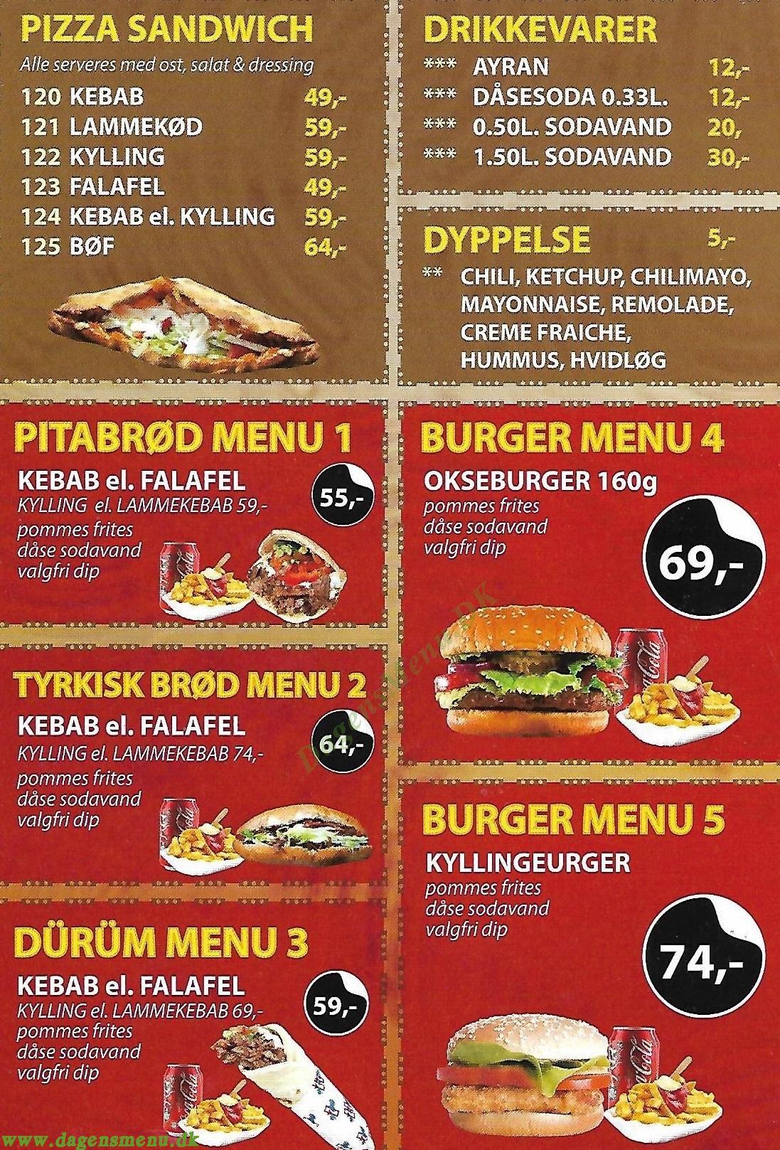 City Kebab - Menukort