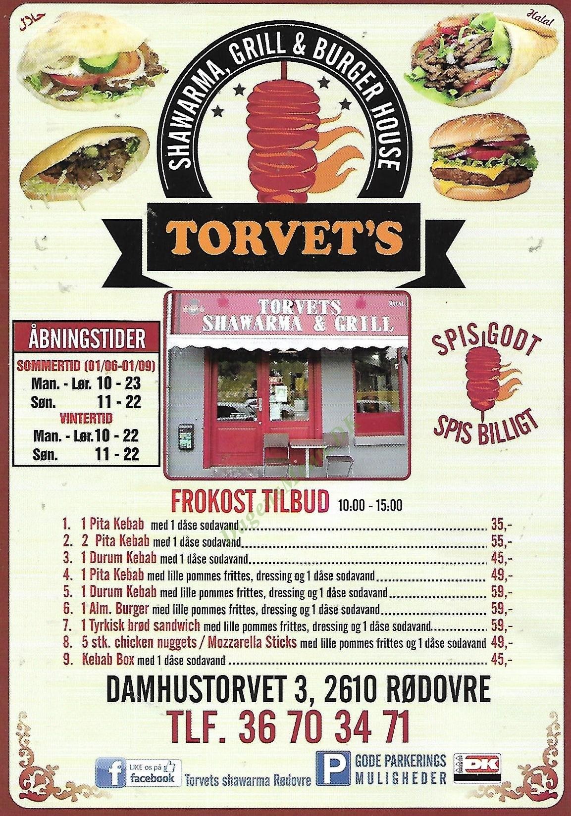 Torvets Kebab Grill - Menukort
