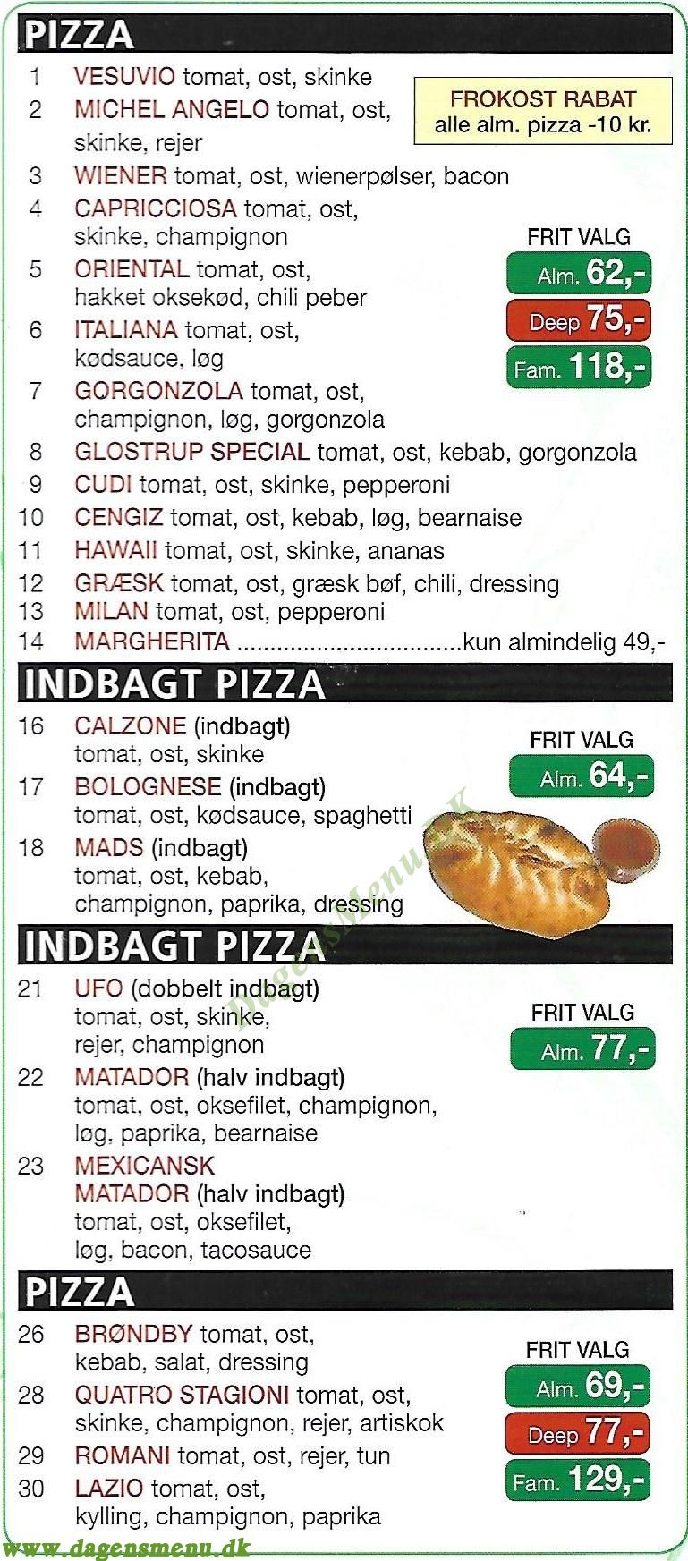 GOURMET Grill & Pizzaria - Menukort