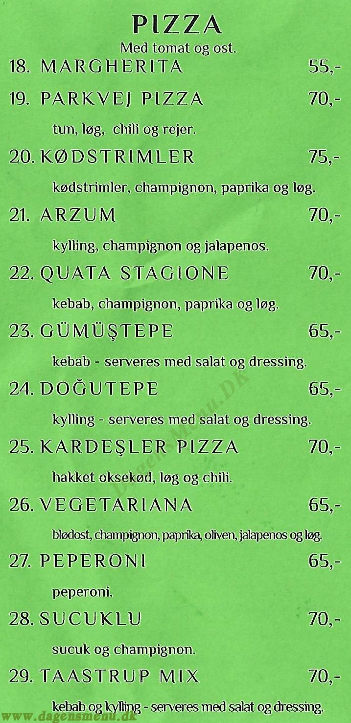 Taastrup Grill Kebab - Menukort