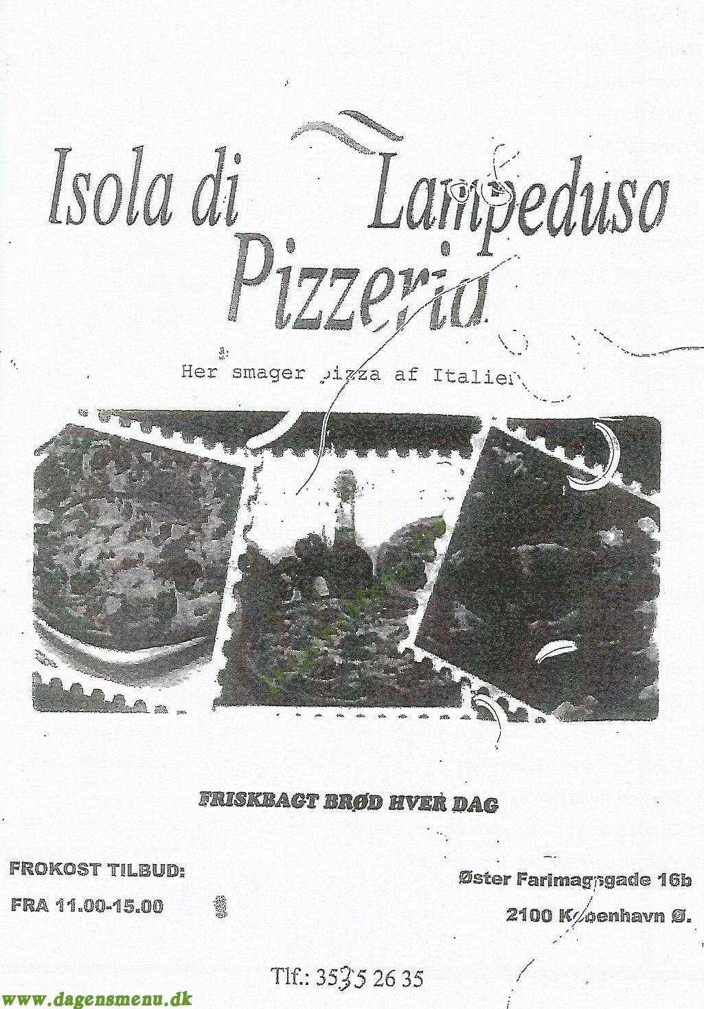 ISOLA DI LAMPEDUSA - Menukort