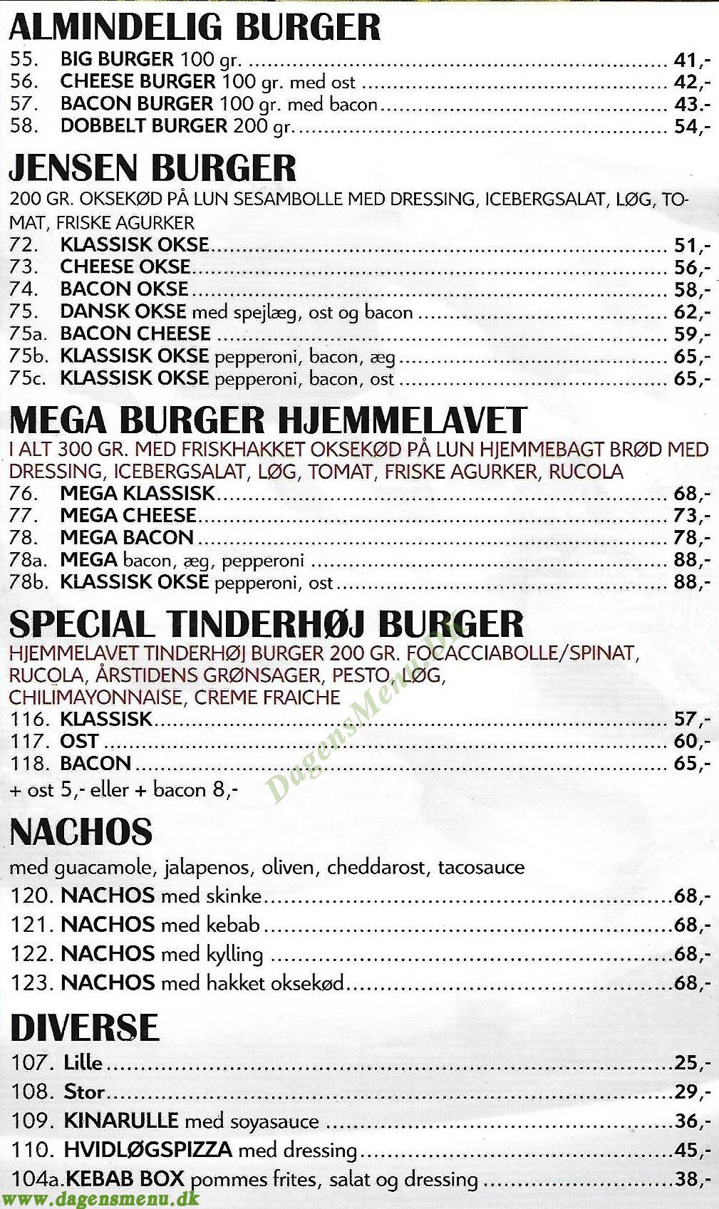 Islev Pizza & Burgerhouse - Menukort