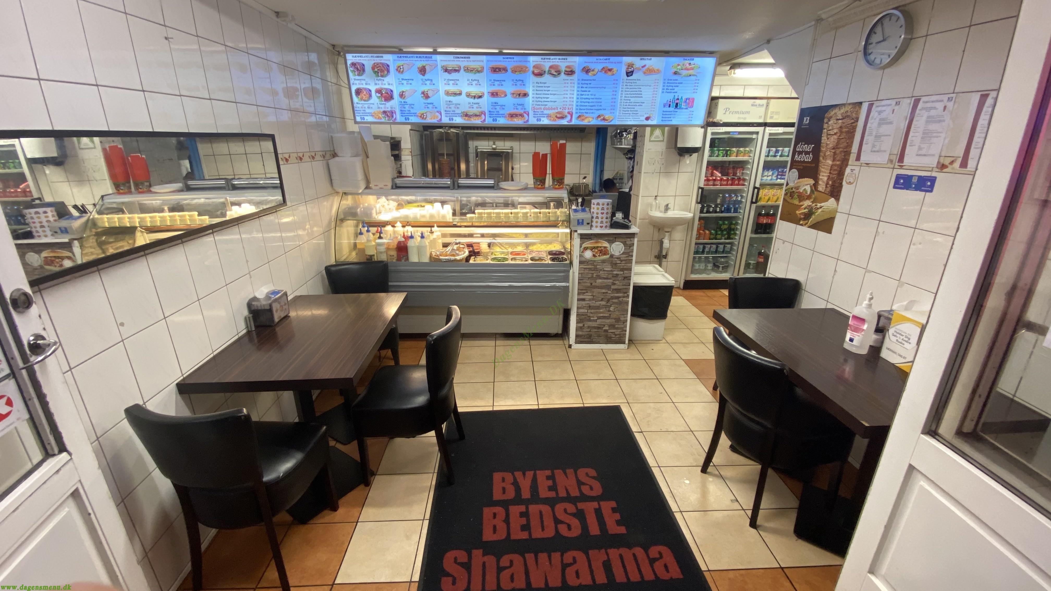 Byens Bedste Shawarma - Menukort
