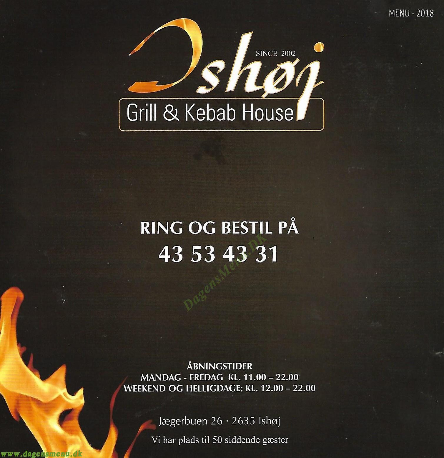 Ishøj Grill & Kebab House - Menukort