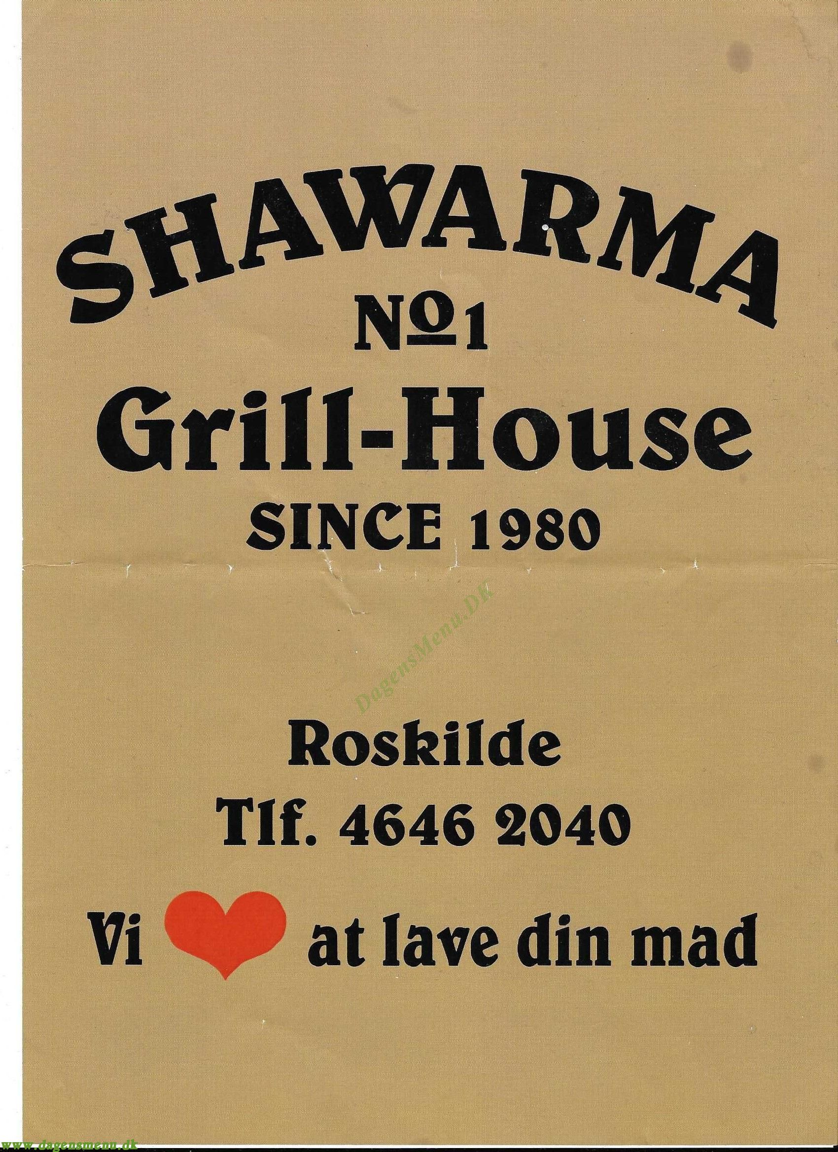 Shawarma Grill-House - Menukort