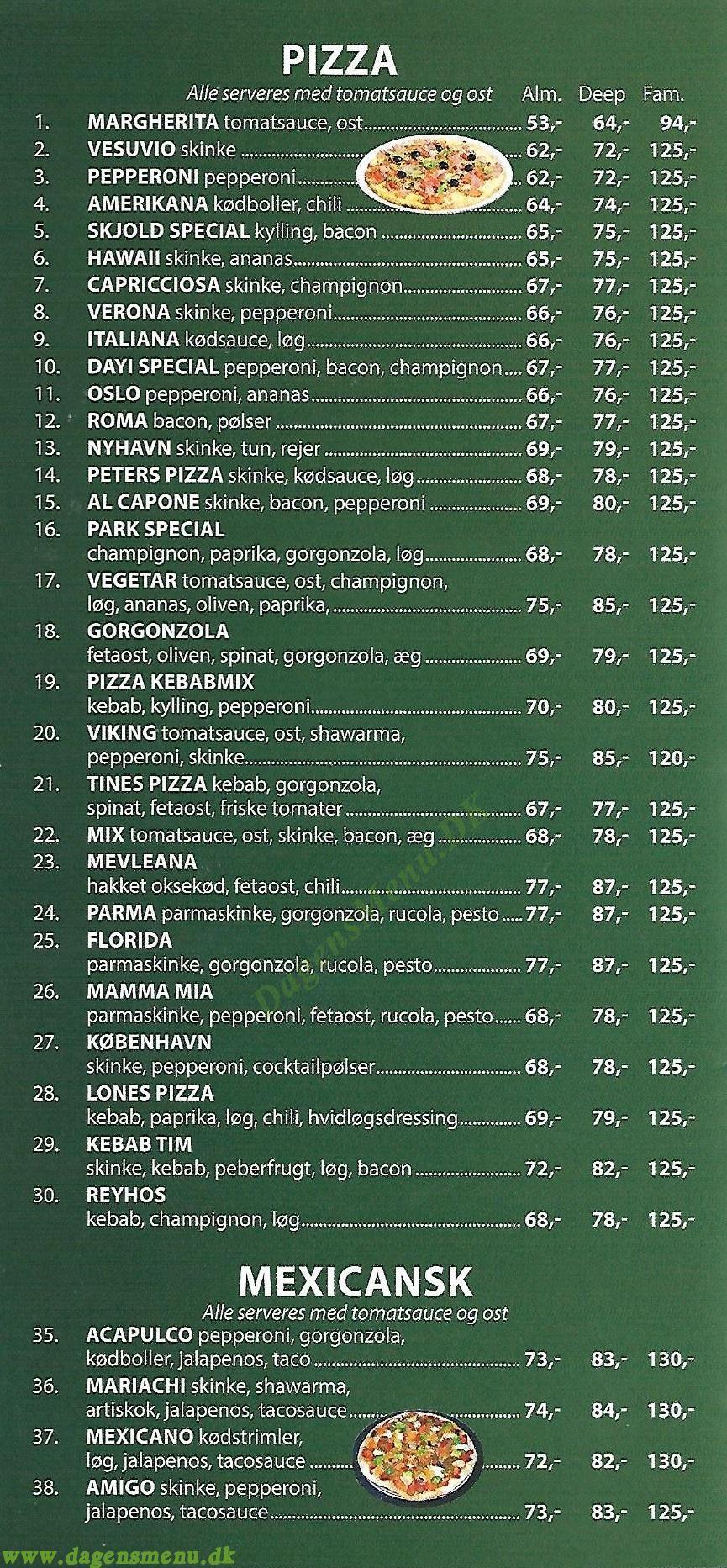 Maestro Kebab Pizzahuset - Menukort