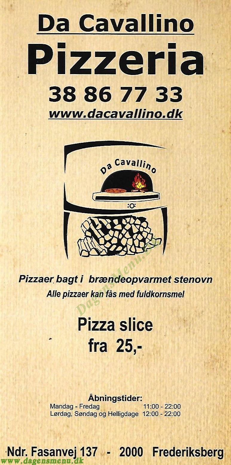 Da Cavallino - Menukort