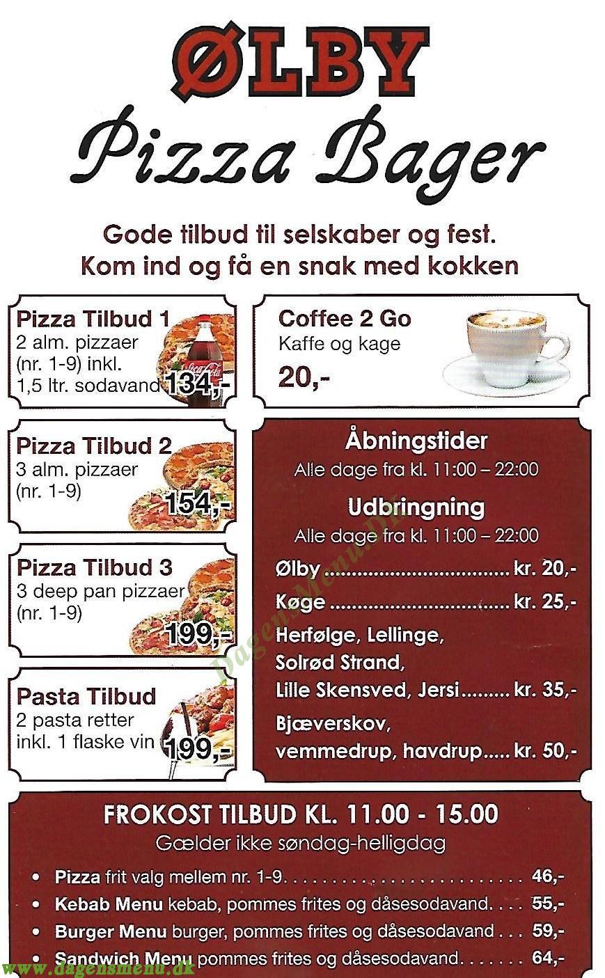 Ølby Pizza - Menukort