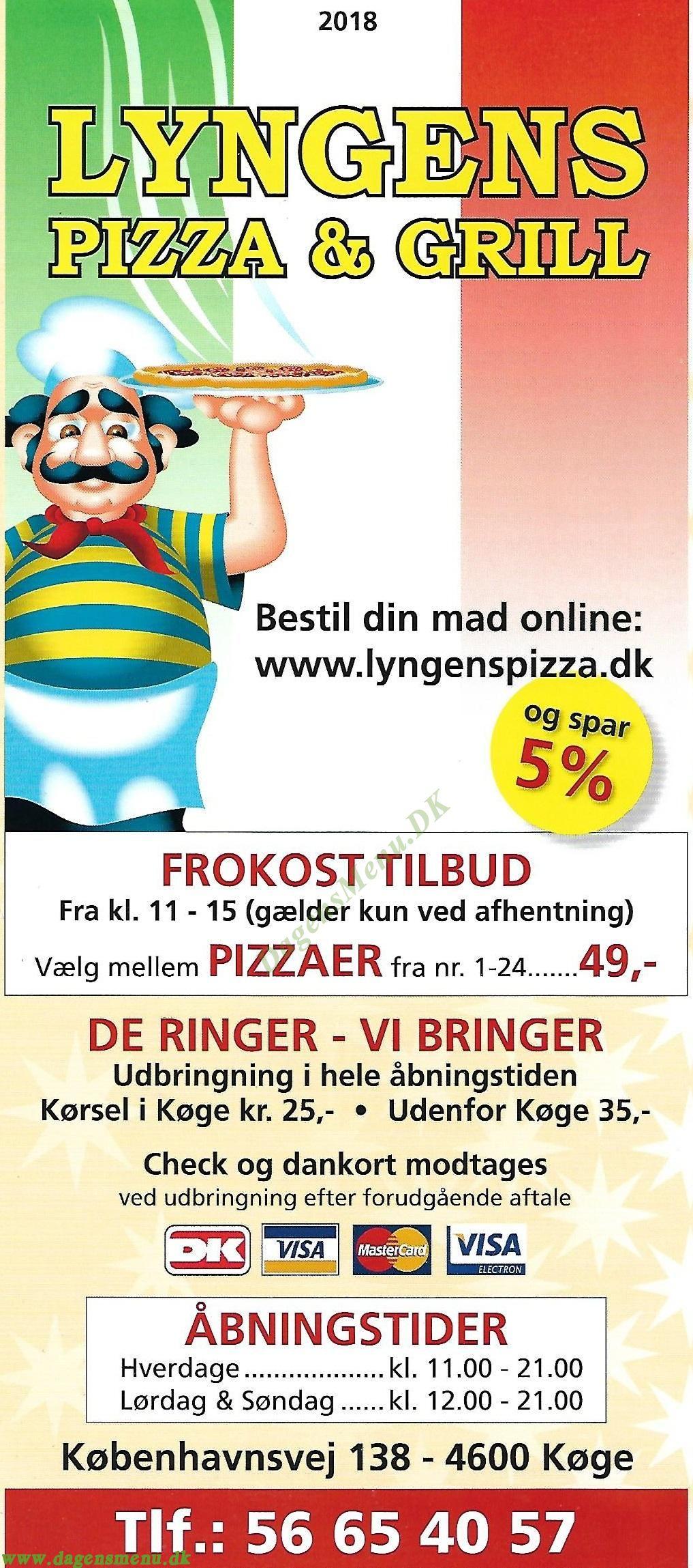 Lyngen´s Pizza & Grill - Menukort