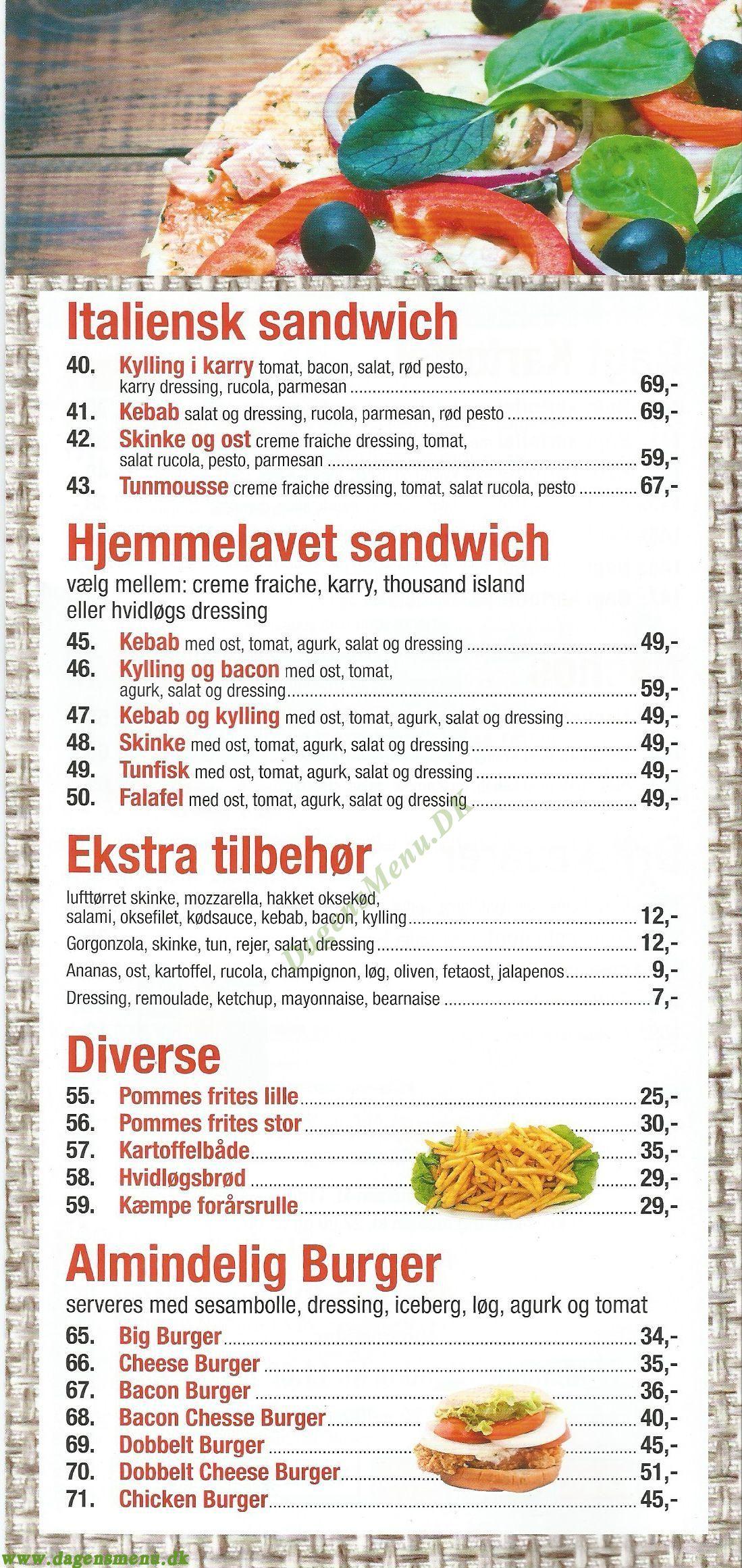 Roskilde Elite Pizza - Menukort