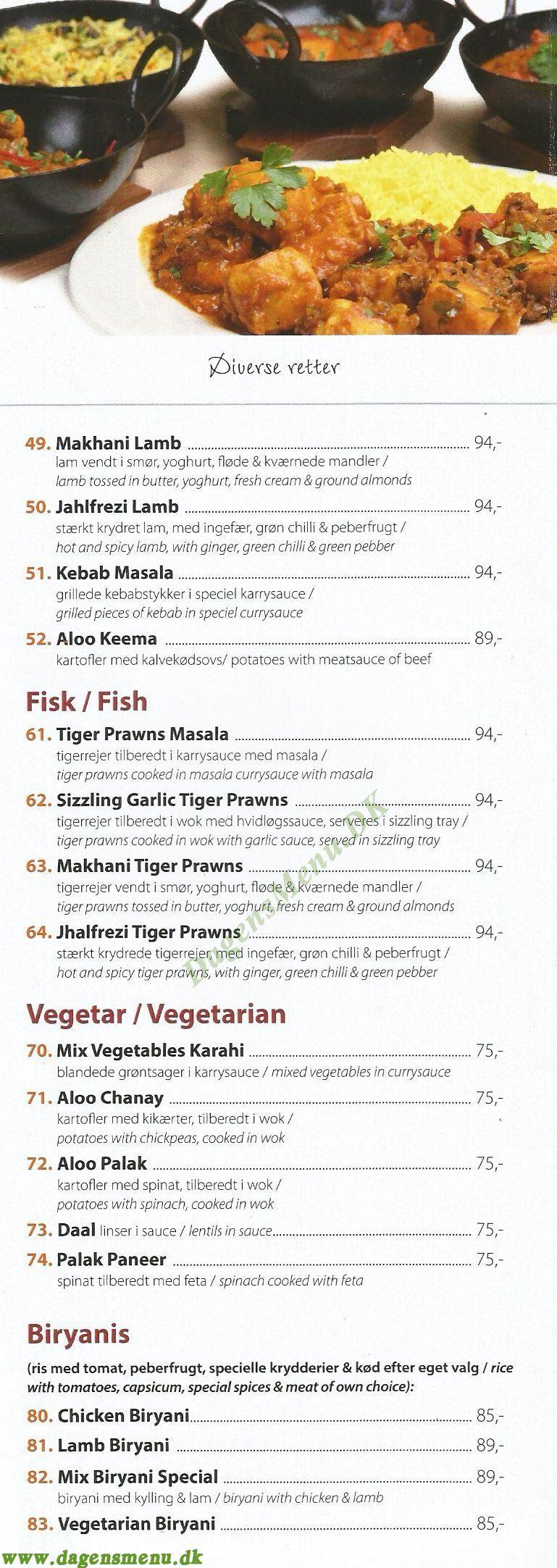 Restaurant Kebabish - Menukort