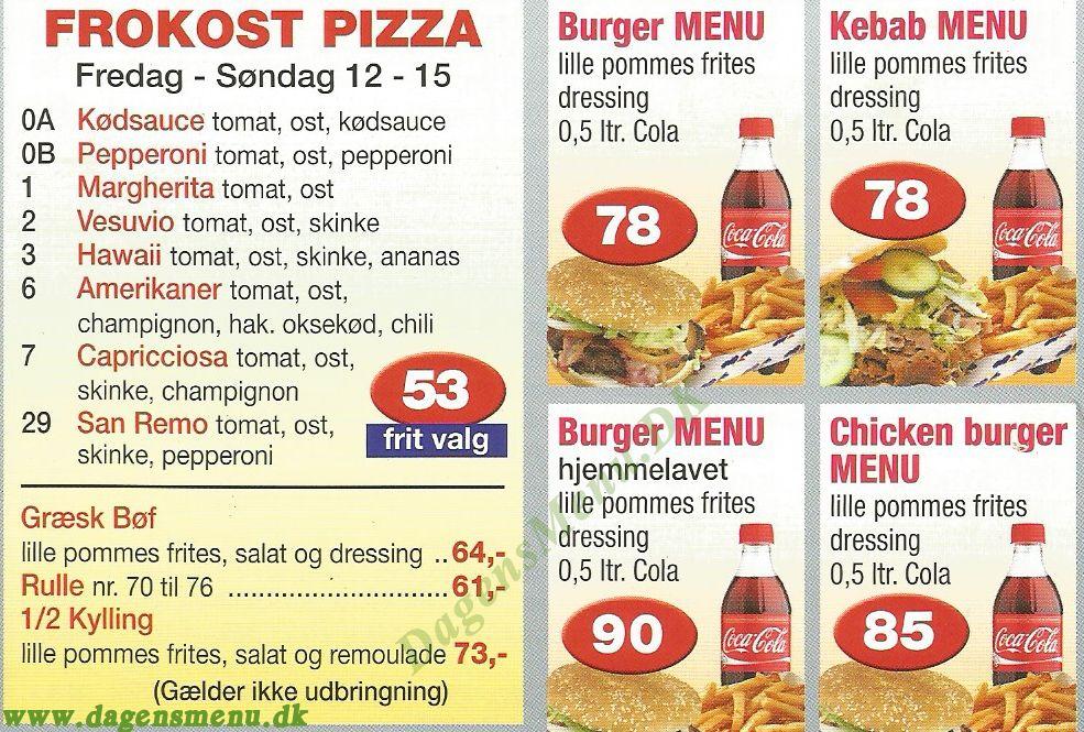 TINOS PIZZA GRILL & CAFE - Menukort